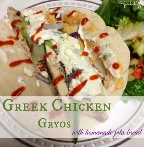 Greek Chicken Gyros | SpeakLyfe
