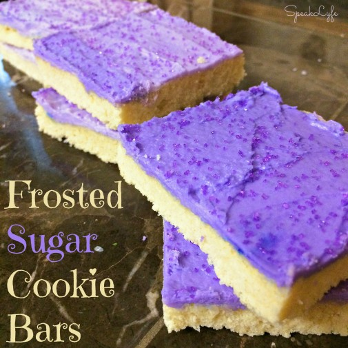 Frosted Sugar Cookie Bars | SpeakLyfe