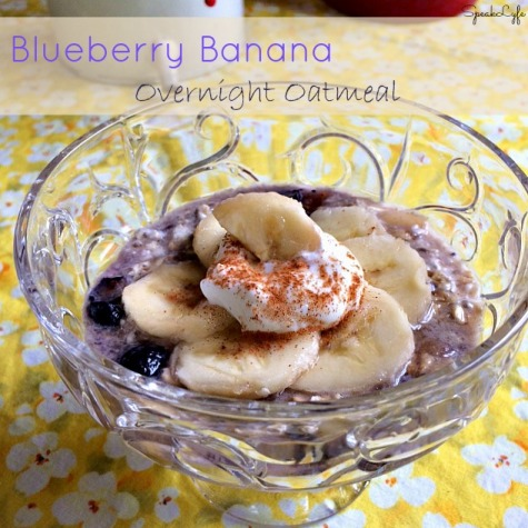 Blueberry Banana Overnight Oatmeal | SpeakLyfe