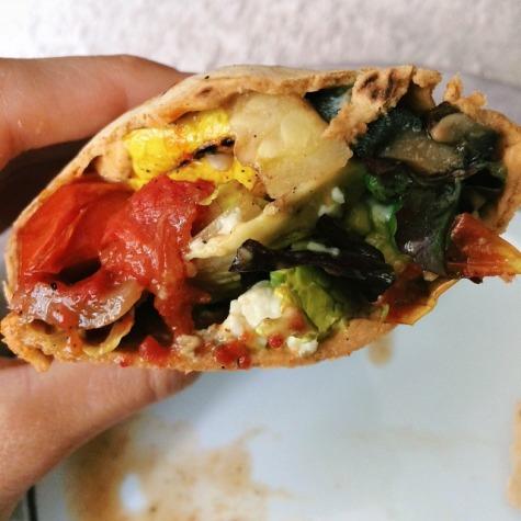 Grilled Veggie & Avocado Wrap