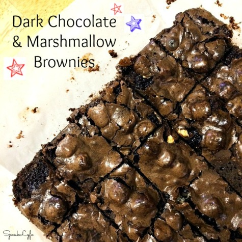 Dark Chocolate and Marshmallow Brownies | SpeakLyfe