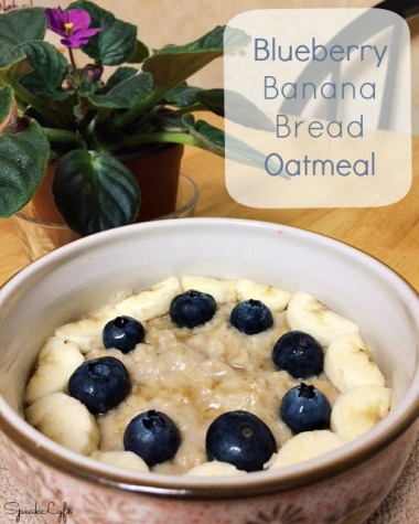Blueberry Banana Bread Oatmeal | SpeakLyfe