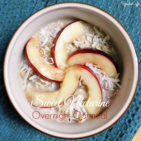 Sweet Nectarine Overnight Oatmeal | SpeakLyfe