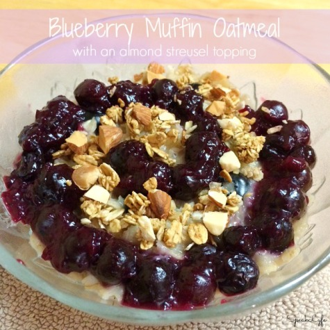 Blueberry Muffin Oatmeal | SpeakLyfe