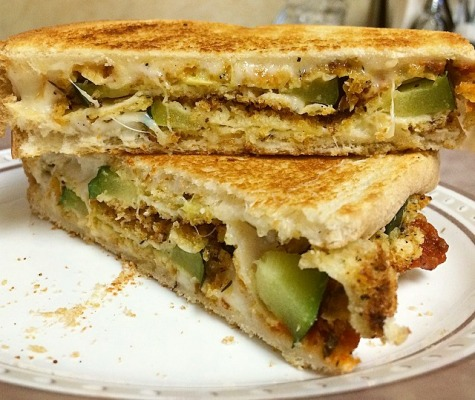 Oven Baked 'Fried' Zucchini Grilled Cheese | SpeakLyfe